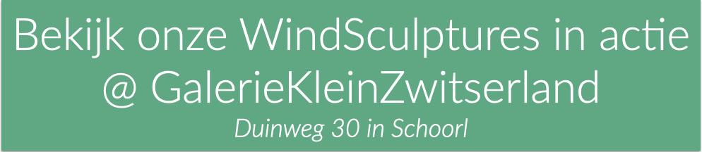 Windsculptures in actie @GalerieKleinZwitserland